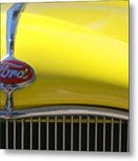 Yellow Ford Metal Print