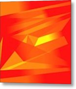 Yellow In Red Metal Print