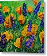 Yellow Poppies 560190 Metal Print