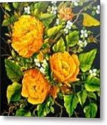Yellow Roses Metal Print