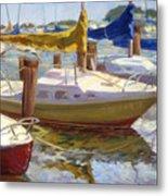 Yellow Sails Metal Print