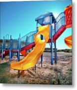 Yellow Slide Metal Print