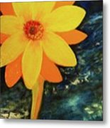 Yellow Treat Metal Print