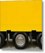Yellow Truck Metal Print
