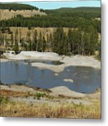 Yellowstone Mineral Ponds Metal Print