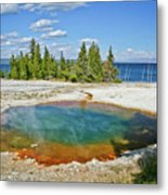 Yellowstone Prismatic Pool Metal Print