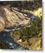 Yellowstone River Canyon Metal Print