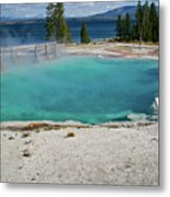Yellowstone Water Pool Metal Print by Brent Parks