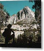 Yosemite Hiker Metal Print