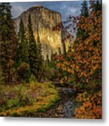 Yosemite's El Capitan In The Fall Metal Print