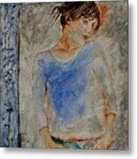 Young Girl 451120 Metal Print