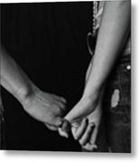 Young Love - Pinky Touch Metal Print