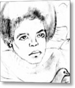 Young Micheal Jackson  Metal Print