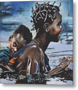 Young Mother And Child Metal Print
