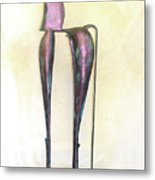 Young Trumpeting Horse Metal Print by Al Goldfarb