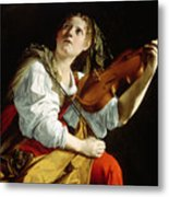 Young Woman With A Violin Metal Print