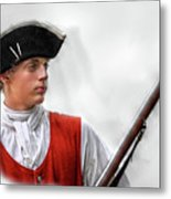 Youthful Soldier With Musket Metal Print