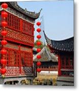 Yu Gardens - A Classic Chinese Garden In Shanghai Metal Print