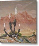 Yuccas In Bloom Metal Print