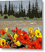 Yukon Flowers Metal Print