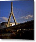 Zakim Bridge And Boston Garden At Sunset Metal Print