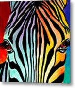 Zebra - End Of The Rainbow Metal Print