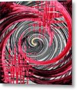 Zebra And A Rose Metal Print
