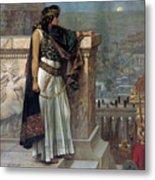 Zenobia's Last Look On Palmyra Metal Print by Herbert Gustave Schmalz