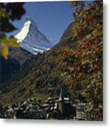 Zermatt Village With The Matterhorn Metal Print