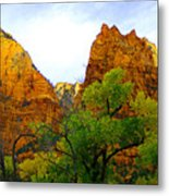 Zion In Autumn Metal Print