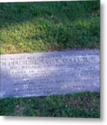 Zollicoffer's Grave Metal Print