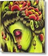 Zombie Girl No2 Metal Print