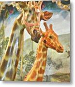 Carousel Patches Metal Print