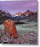 Mountain Textures And Light Metal Print
