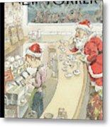 Santa's Little Helper Metal Print