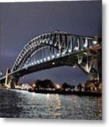 Sydney Harbor Bridge Night View Metal Print