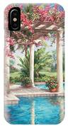 Poolside Garden IPhone Case