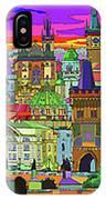 Prague Panorama Old Town IPhone Case