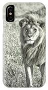 The King Stands Tall IPhone Case