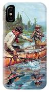 Two Fishermen In Canoe IPhone Case
