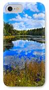 Early Autumn At Fly Pond - Old Forge Ny IPhone Case by David Patterson