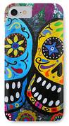 Couple Day Of The Dead IPhone Case by Pristine Cartera Turkus