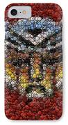 Autobot Transformer Bottle Cap Mosaic IPhone Case by Paul Van Scott