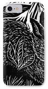 Cottontail Block Print IPhone Case by Ellen Miffitt