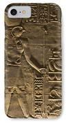 Hieroglyph At Edfu IPhone Case by Darcy Michaelchuk