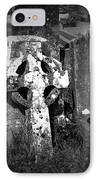 Rugged Cross At Fuerty Cemetery Roscommon Ireland IPhone Case