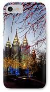 Slc Temple Lights Lamp IPhone Case
