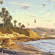 Heisler Park Rockpile At Twilight Poster