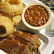 Brisket, Beans, & Rings At Famous Sonny Poster by Richard Nowitz