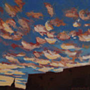 Sunset Clouds Over Santa Fe Poster by Erin Fickert-Rowland